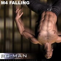 M4 Falling 3D Figure Essentials RO_MAN