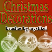 Christmas Decoration Brushes 3D Models 2D Graphics mystikel