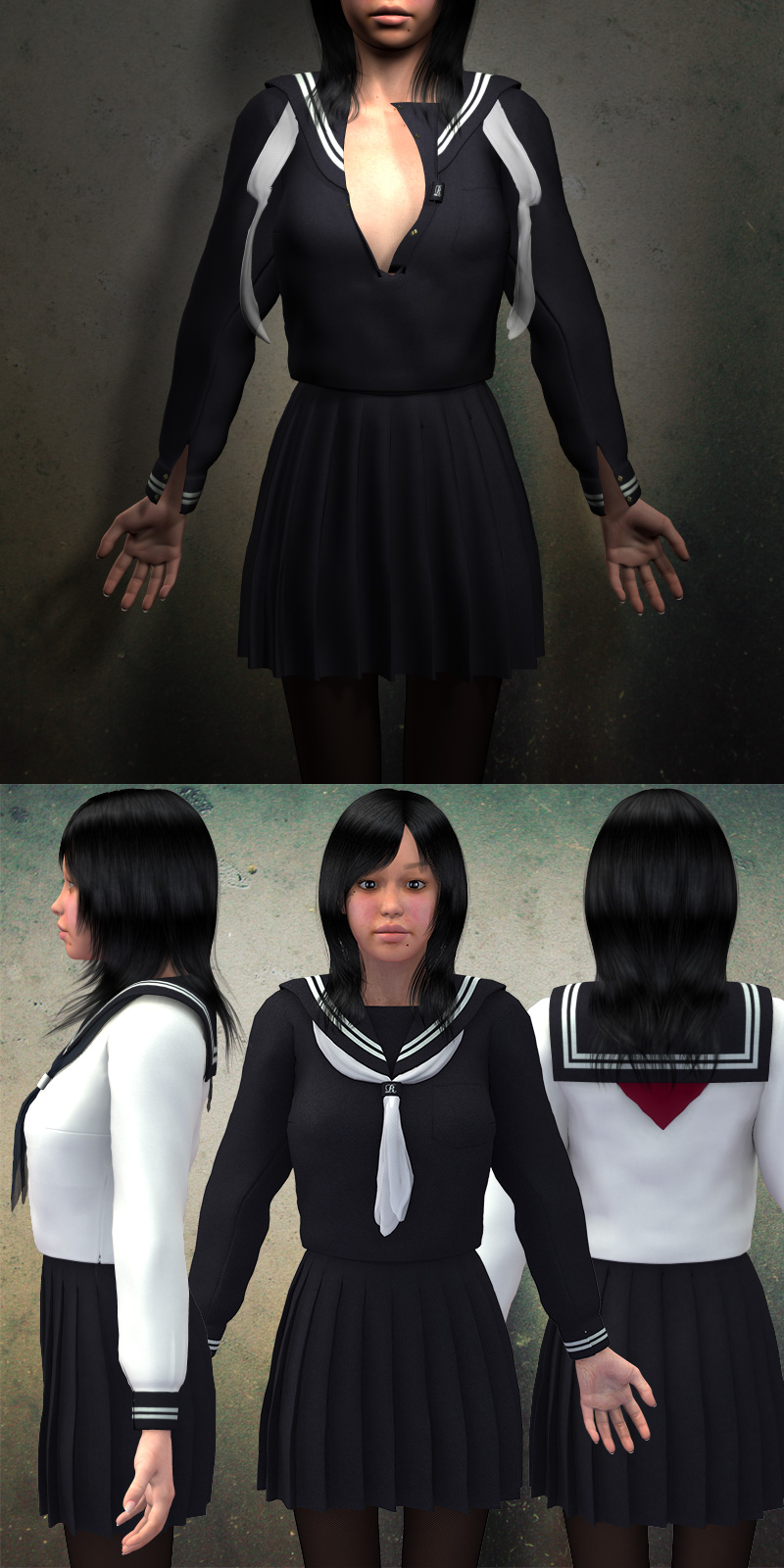 rg Sailor School Uniform for V4A4G4Elite