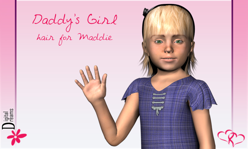 Daddy's Girl-hair for Maddie