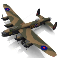 Avro Lancaster - Poser & OBJ Themed Software Transportation Touchwood