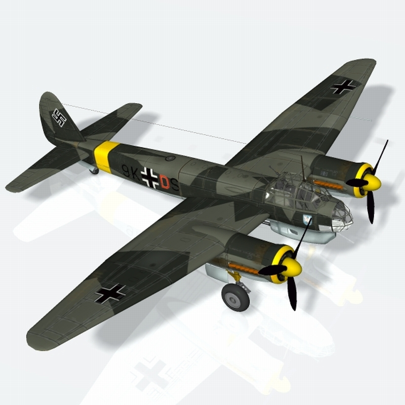 Junkers JU88 A4 (for 3ds) Themed 3D Studio MAX Touchwood