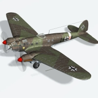 Heinkel HE 111 H2 (for 3ds) Props/Scenes/Architecture Themed Transportation Touchwood