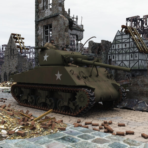 M4A3_76 Sherman (for Poser)