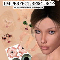 LM PERFECT RESOURCE KIT for V4 2D Graphics 3D Figure Assets luciferino