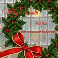 Holly Wreath 2D Graphics 3D Models dpanzee