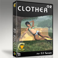 CLOTHER for G2 (Upgrade) 3D Software : Poser : Daz Studio : iClone 3D Figure Assets zew3d