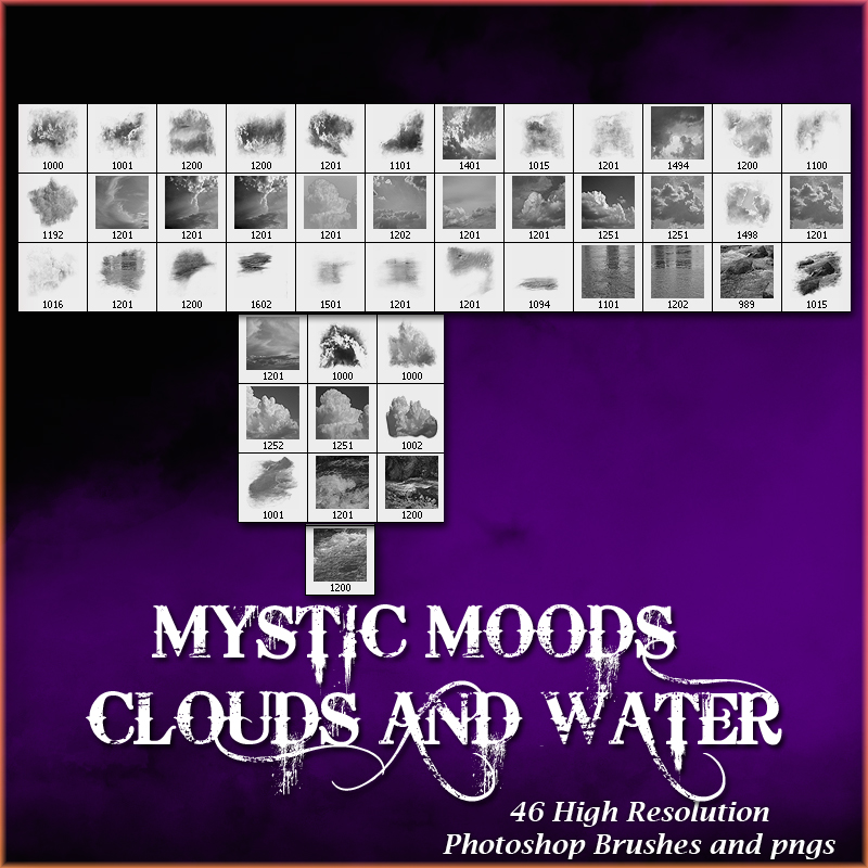 doarte's MYSTIC MOODS - CLOUDS & WATER BRUSHES