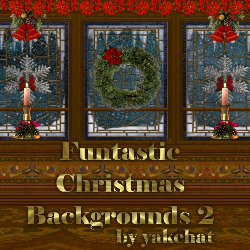 CLM Funtastic Christmas Backgrounds 2 by yakchat
