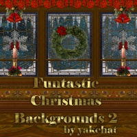 CLM Funtastic Christmas Backgrounds 2 by yakchat 2D yakchat