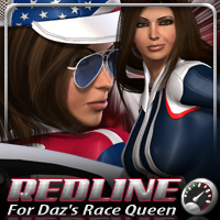 Redline for Daz's Race Queen 3D Figure Assets fratast