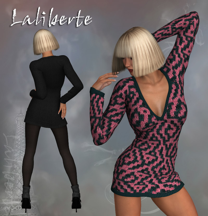 Laliberte Sexy Sweater Dress V4