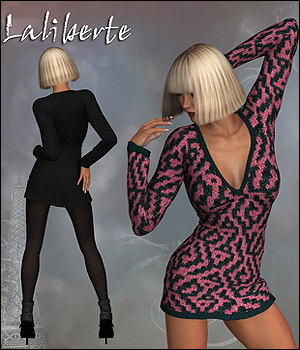 Laliberte Sexy Sweater Dress V4 3D Figure Assets RPublishing