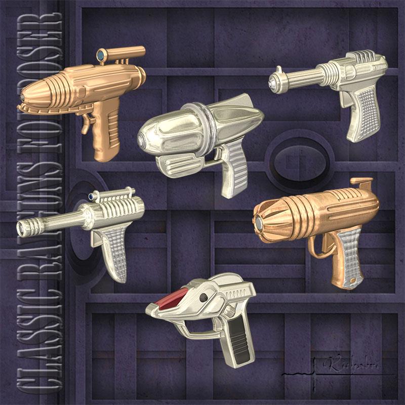 Classic Rayguns for Poser