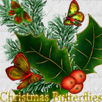 Christmas Butterflies 3D Models 2D Graphics mystikel