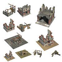 Ruined Buildings - for Poser image 3