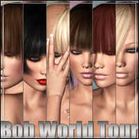 Bob World Tour Themed Hair outoftouch