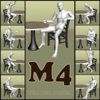 M4/V4 Coffee Break 3D Figure Assets Saltaor