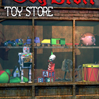 Toy Store Window with Toys by LukeA