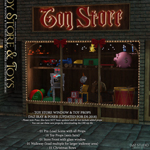 Toy Store Window and Toys for DS and Poser image 1