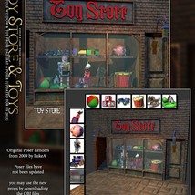 Toy Store Window and Toys for DS and Poser image 6