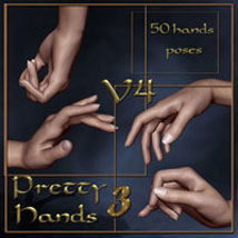 Pretty Hands 3 - V4 3D Figure Assets ilona
