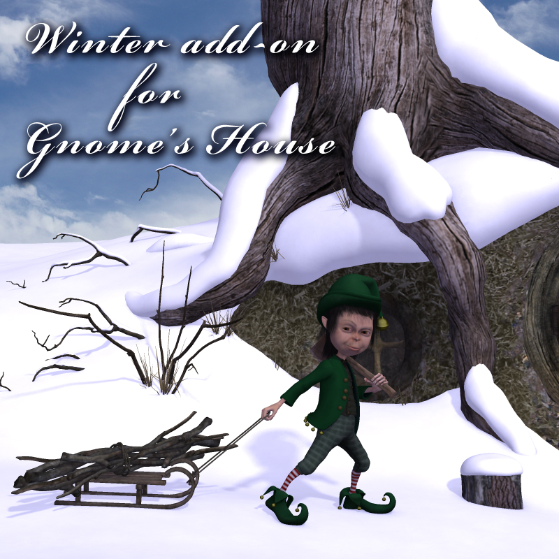 Winter add-on for Gnome's House