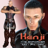 Kenji: The Enforcer 3D Figure Assets shaft73
