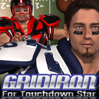 Gridiron for Touchdown Star 3D Figure Assets fratast
