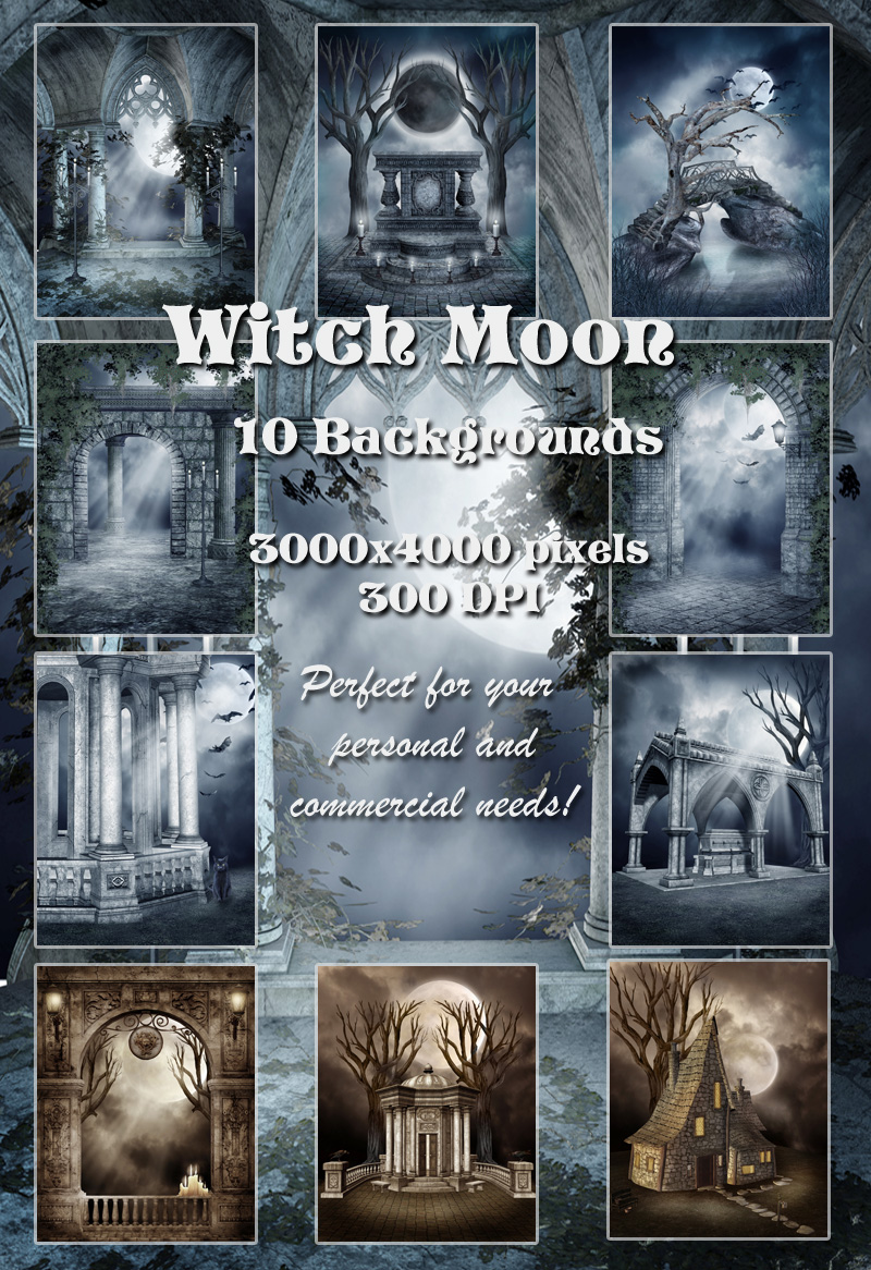 Witch Moon Backgrounds