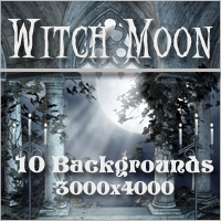 Witch Moon Backgrounds Themed 2D And/Or Merchant Resources -Melkor-