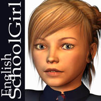 English SchoolGirl 3D Figure Assets Oskarsson