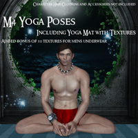 M4 Yoga Poses, Mat, & Textures 3D Figure Essentials Emms3D