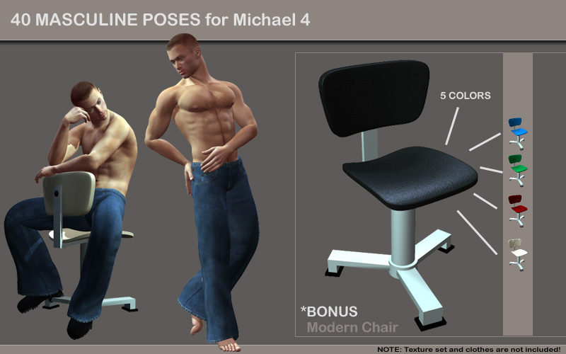 40 Masculine Poses for Michael 4