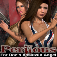 Perilous for Daz's Assassin Angel 3D Figure Assets fratast