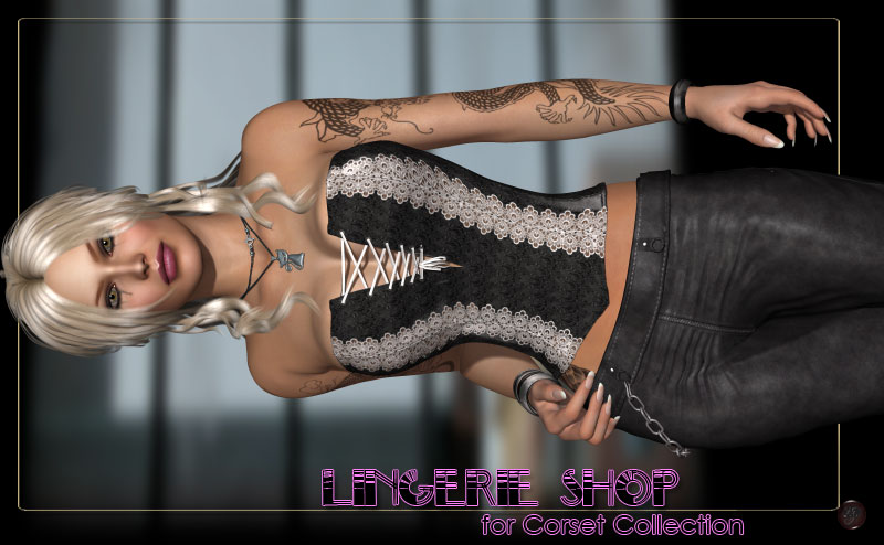 Lingerie Shop for Corset Collection by kaleya