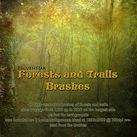 FS Forests and Trails Brushes Themed 2D And/Or Merchant Resources FrozenStar