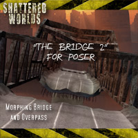 """SW_The Bridge 2"" (for poser) Transportation Props/Scenes/Architecture Themed Software MRX3010"