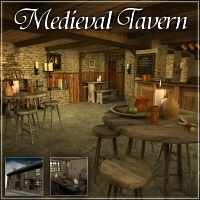 Merlin's Medieval Tavern 3D Models 3D Figure Essentials Merlin_Studios