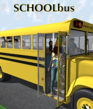 School bus 3D Models 3D Figure Assets greenpots