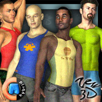 Casuals Pack4 for CLOTHIM Hybrid  zew3d