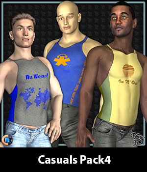Casuals Pack4 for CLOTHIM Hybrid 3D Figure Essentials zew3d