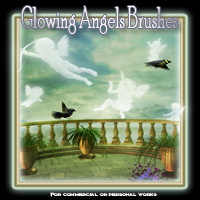 Glowing Angels Brushes 2D Graphics EmmaAndJordi