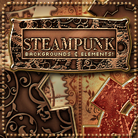 Steampunk Backgrounds 2D And/Or Merchant Resources Themed Sveva