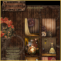 Steampunk Backgrounds image 1