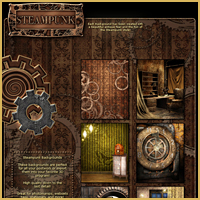 Steampunk Backgrounds image 2