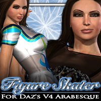 Figure Skater for Daz's V4 Arabesque  fratast