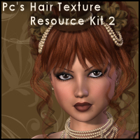 Pc's Hair Resource Texture Kit Set 2 2D Propschick