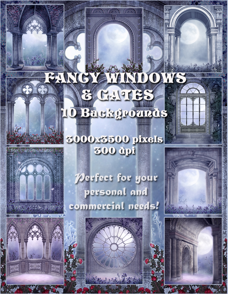 Fancy Windows & Gates Backgrounds