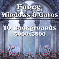 Fancy Windows & Gates Backgrounds 2D And/Or Merchant Resources Themed -Melkor-